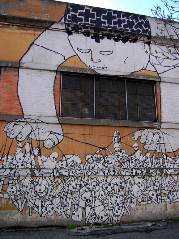 Blu. Street art - Bologna