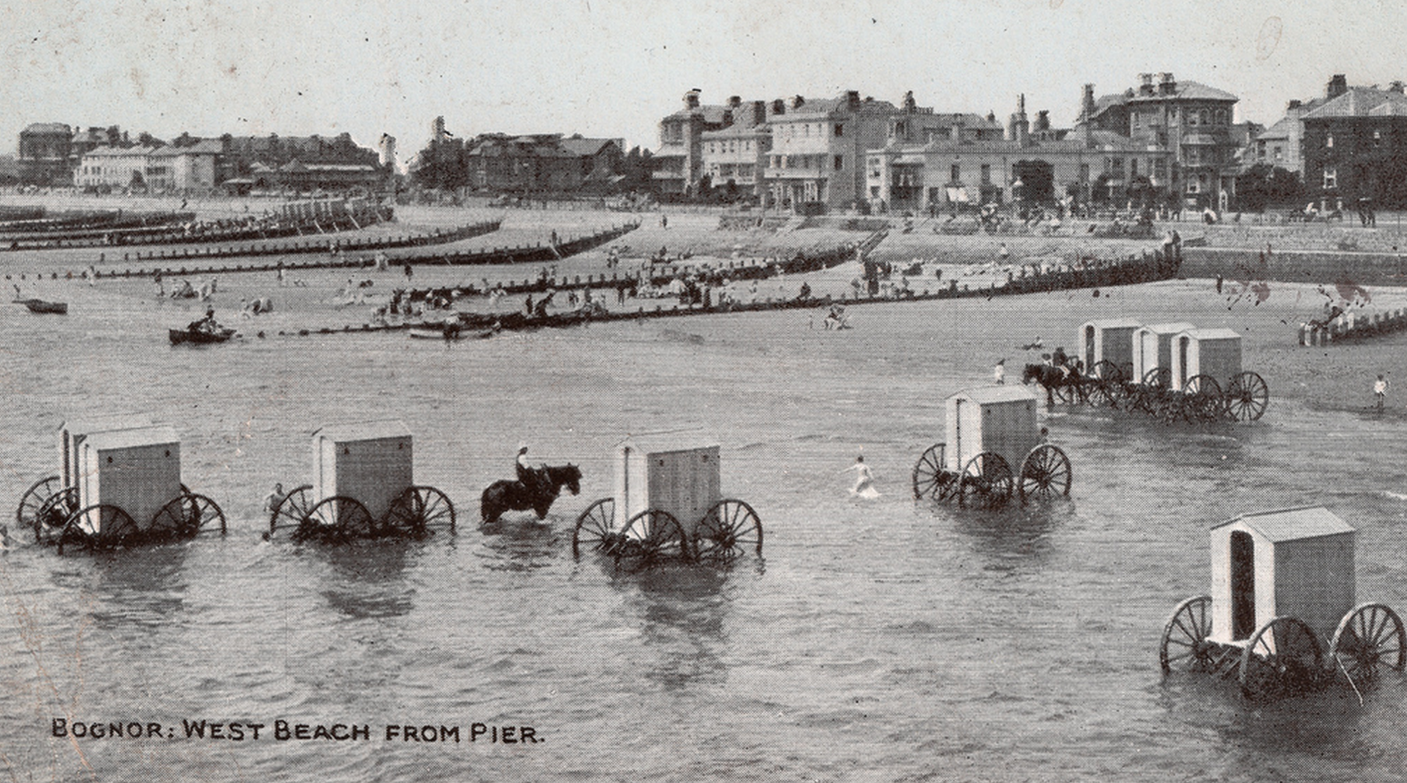 Bathing machines in Sussex, XIX secolo