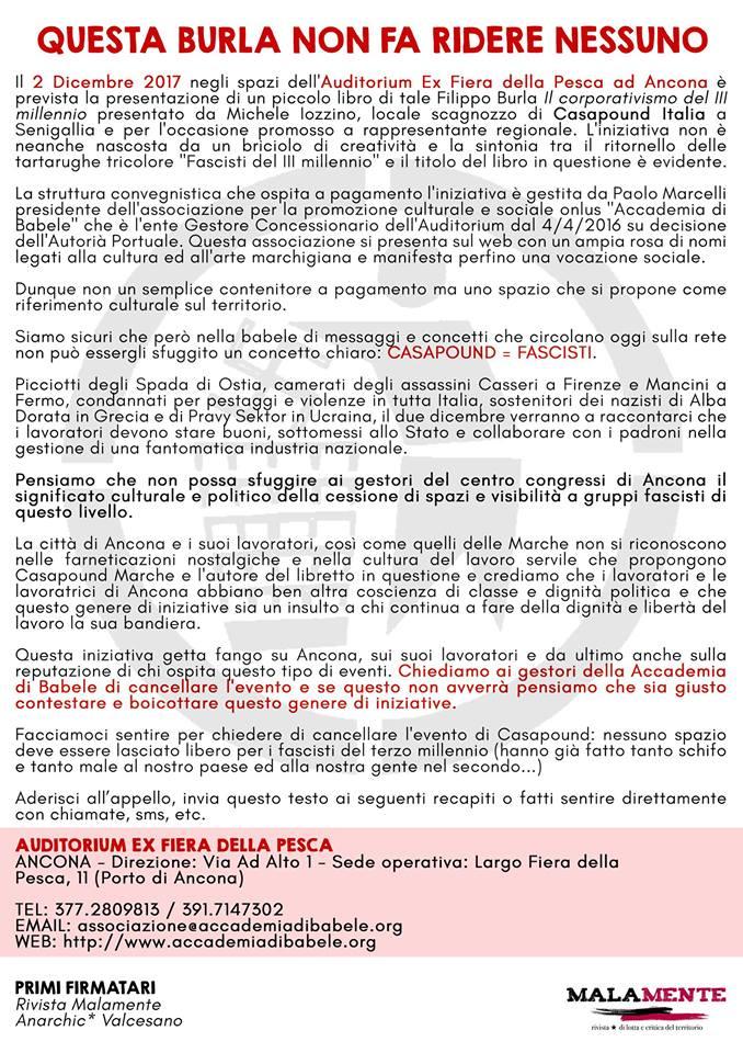 Casapound Ancona - mobilitazione antifascista