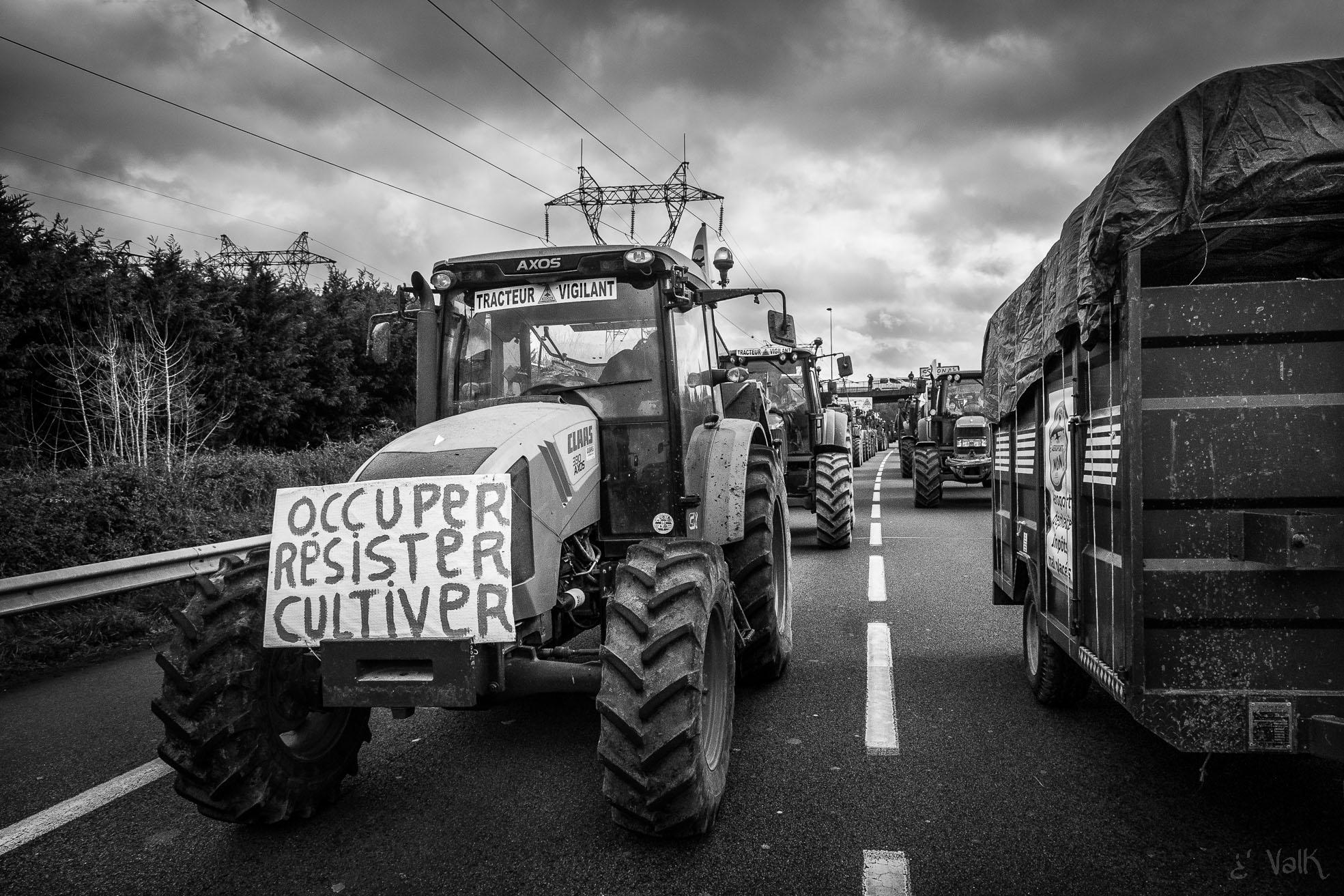 Trattori verso Nantes, 2016. Foto di Valk