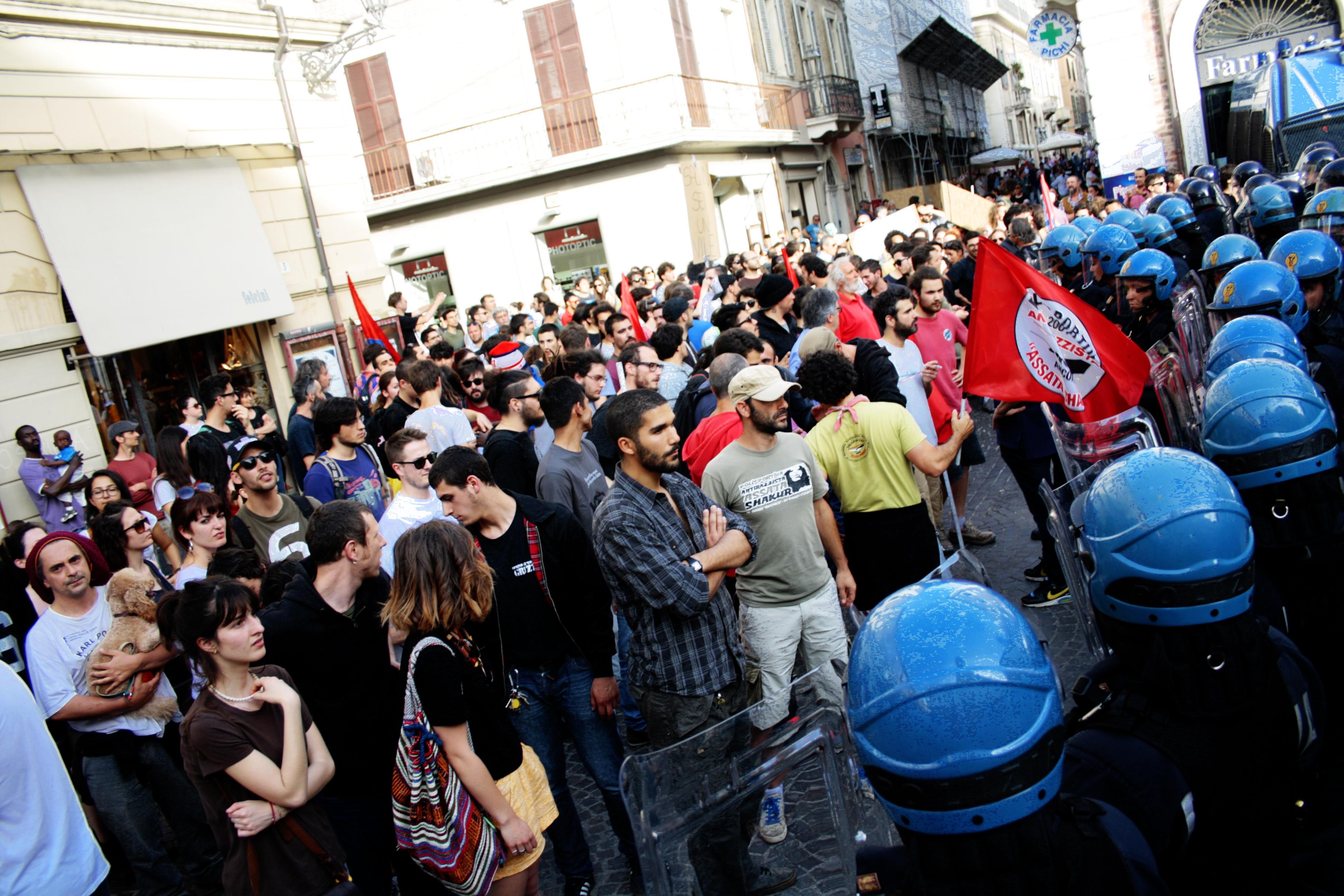 Manifestazione contro Salvini, Senigallia, 14 maggio 2015 - Foto di Matilde Mazzaferri