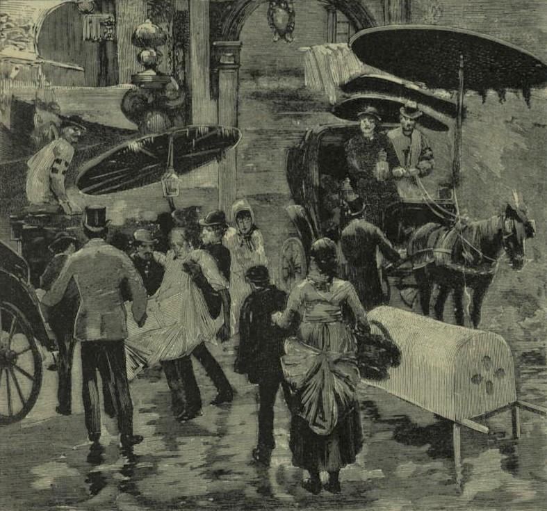 Il colera a Napoli, servizio della Croce bianca, da L'Illustrazione italiana, 5 ott. 1884