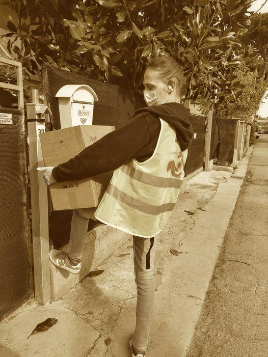 BVE Senigallia, distribuzione pacchi alimentari, aprile 2020
