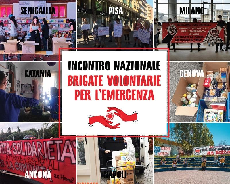 Manifesto incontro nazionale brigate e gruppi mutuo aiuto - Senigallia 1-2 agosto 2020