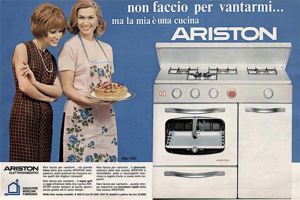 ariston fabriano pubblicità anni 70